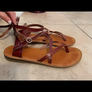 american eagle strap oh sandals